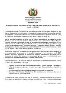 #Último momento: Gobierno denuncia intento de golpe de Estado en Bolivia