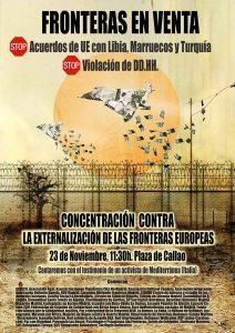 Concentración Madrid: Contra la externalización de las fronteras europeas