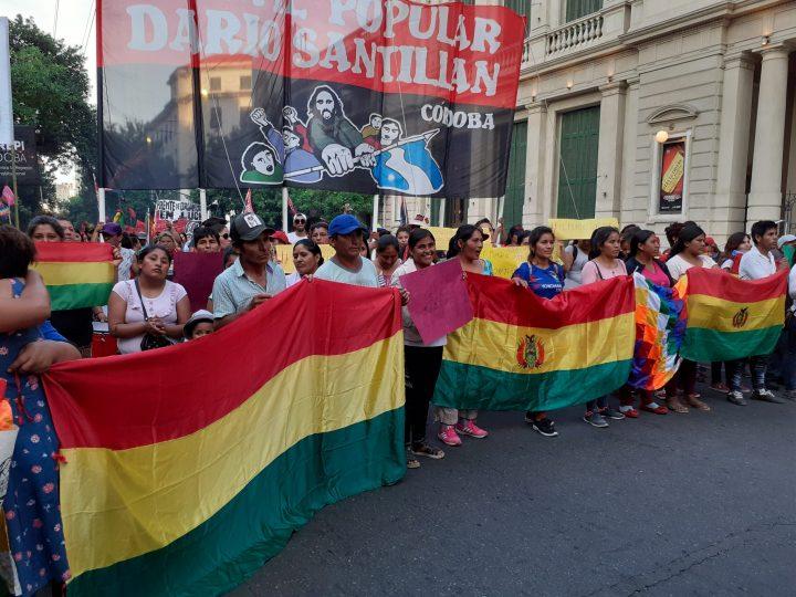 manifestación repudio golpe Bolivia en Cba 049