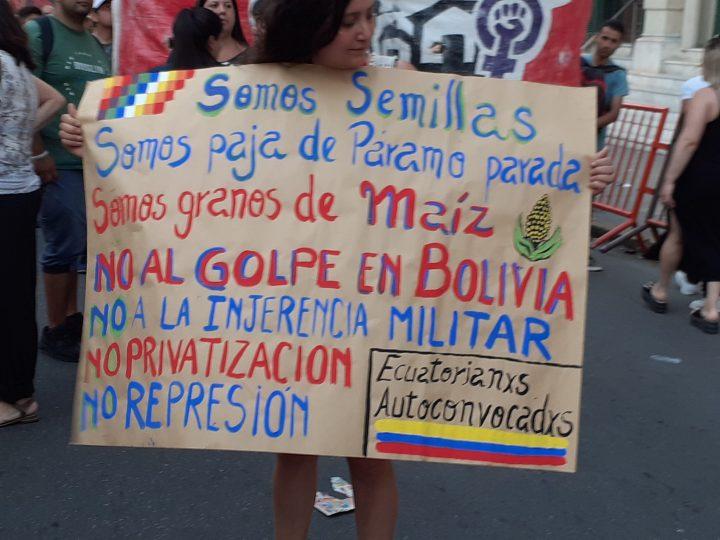 manifestación repudio golpe Bolivia en Cba 055
