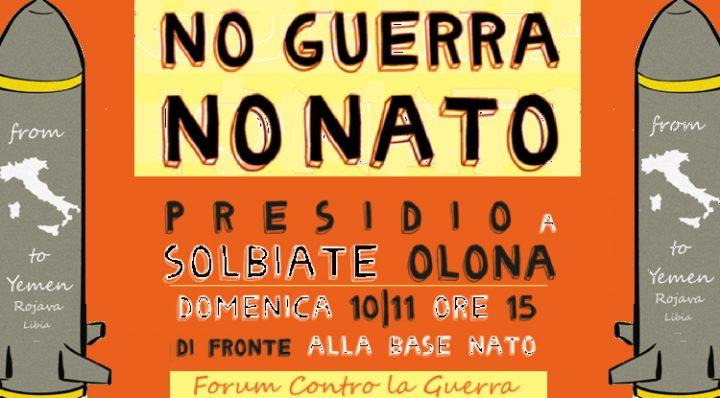 Presidio alla base NATO domenica 10 novembre