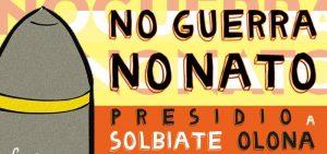 Presidio alla base NATO di Solbiate Olona domenica 10 novembre