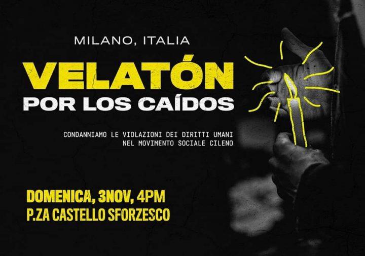 Veglia per il Cile a Milano