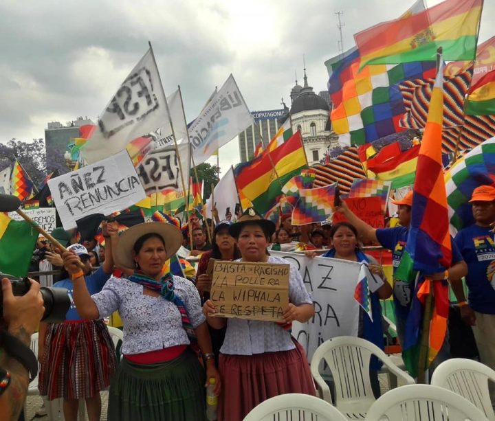 Argentina: Un wiphalazo contra el golpe de Estado en Bolivia