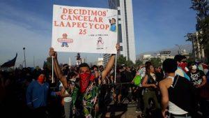 Chile Piñera cancela cúpulas da APEC e da COP25