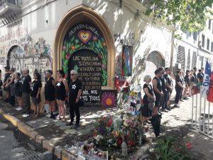 Santiago del Cile: blitz 26×26 in omaggio alle vittime della repressione poliziesca