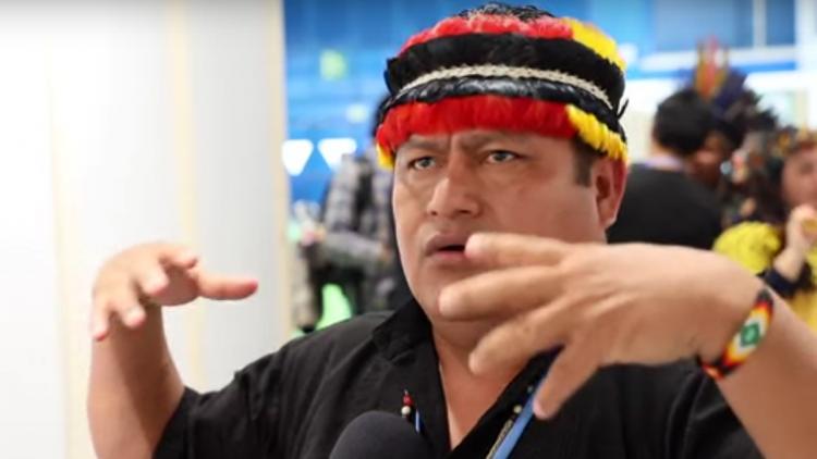 Jaime Vargas, presidente de la CONAIE-Ecuador durante la COP25