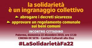 #LaSolidarietàFa22!  L'affaire-Casa del Popolo: la solidarietà è un ingranaggio collettivo