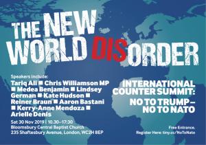 New world (dis)Order, contro la NATO e il militarismo europeo