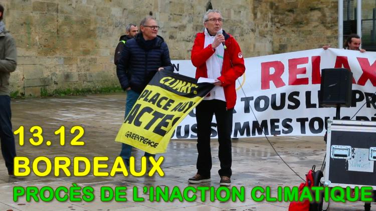 Procès de l'Inaction Climatique et Sociale : intervention de Patrick Maupin de Greenpeace Bordeaux