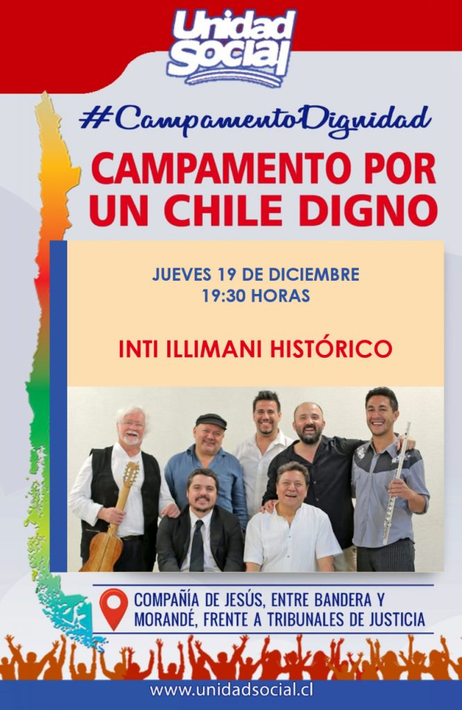 [Chile] Concierto de Inti Illimani histórico en el Campamento Dignidad