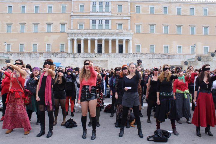 Las Tesis στο Σύνταγμα: Ο βιαστής είσαι εσύ