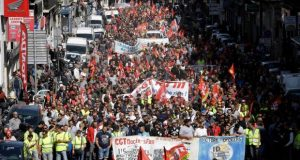 Thousands of workers march in France