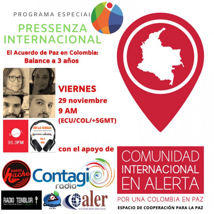 Especial Balance Tres años acuerdo de paz en Colombia – Pressenza Internacional En la Oreja 29/11/2019