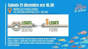 Milano, flash mob delle Sardine al congresso della Lega per ricordare i 49 milioni di euro sottratti allo Stato