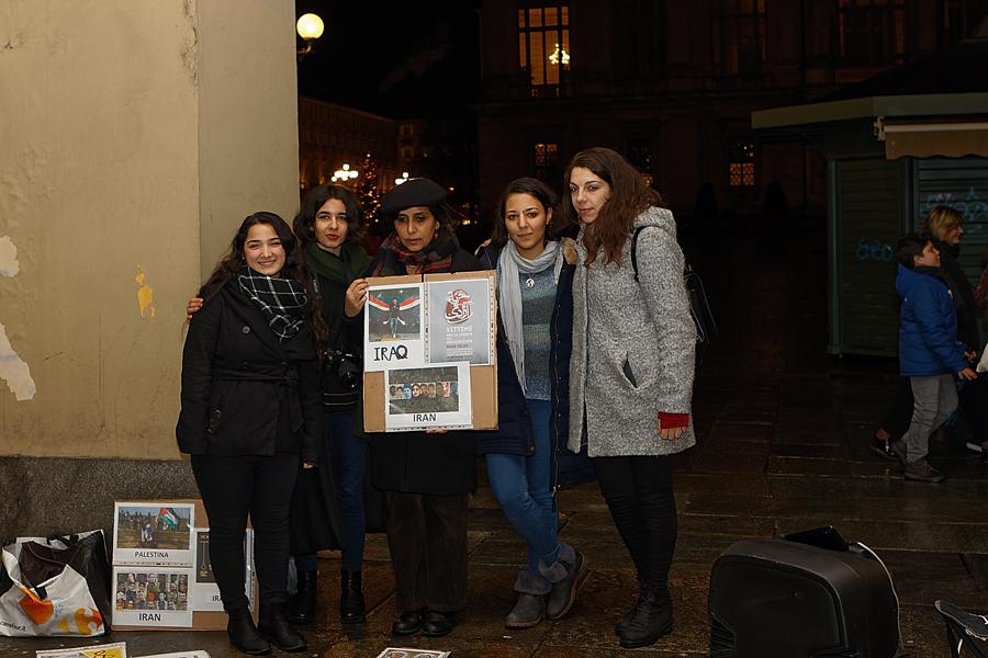 Flash mob Shab-Yalda a Torino