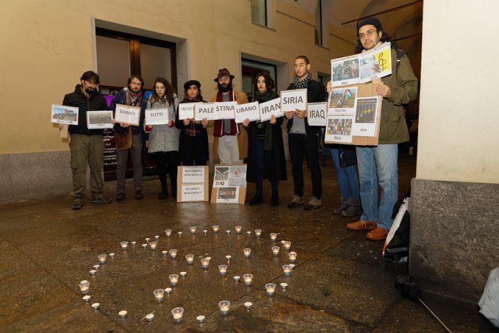 Uniti per ricordare i morti per la libertà in Medio Oriente a Torino
