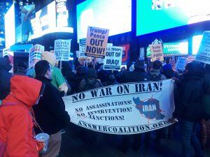 Coaliciones de Organizaciones de Nueva York Expresan su Rechazo a una Guerra con Irán