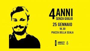 4 anni senza Giulio – Fiaccolata a Milano