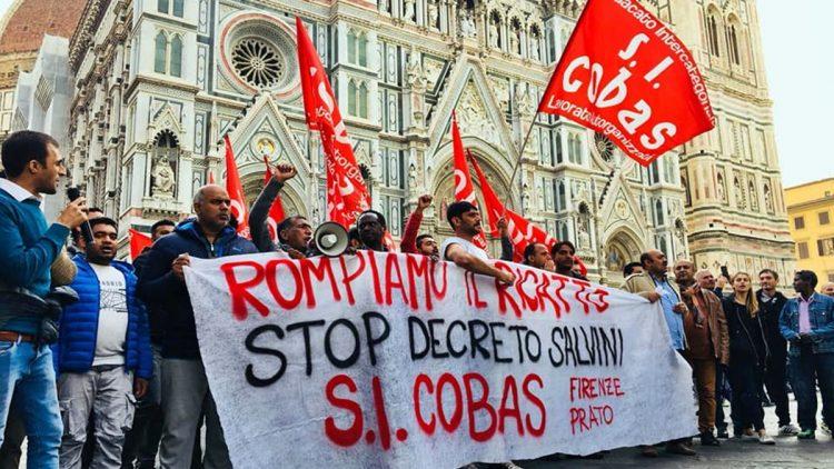 Manifestazione dei Cobas a Firenze