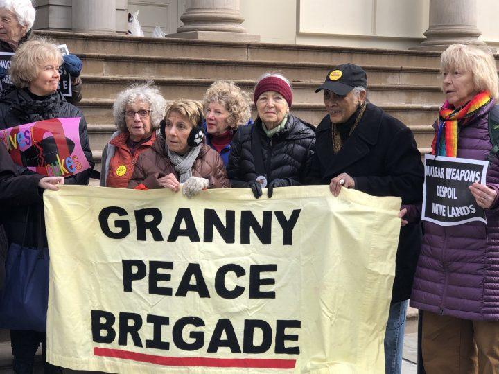 Granny at Press Conference-Hearing