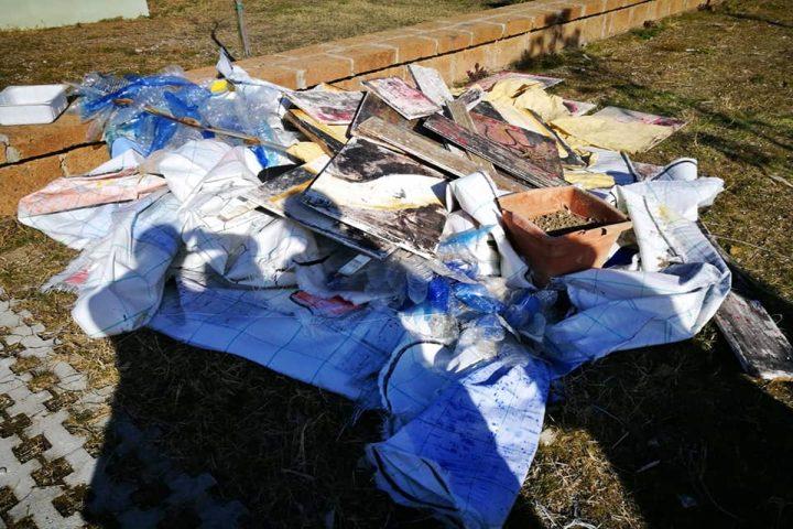 La devastazione dl Parco Resit a Gugliano