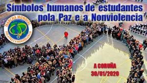 7.600 studenti realizzeranno simboli umani per la Pace e la Nonviolenza a La Coruña