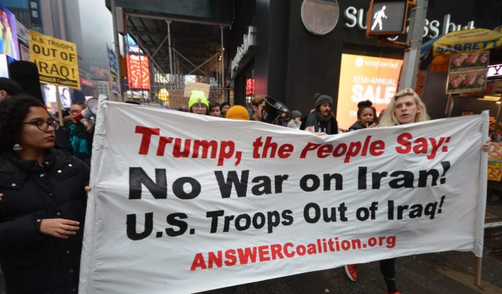 National Day of Action US Troops Out of Iraq Banner