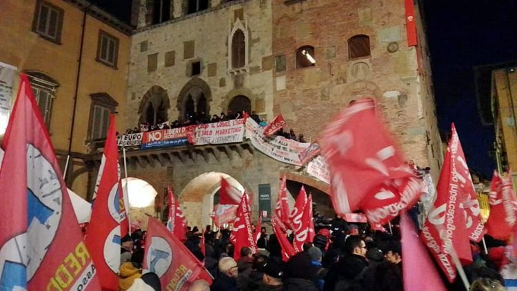 Manifestazione Si Cobas a Prato