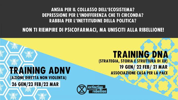 Incontri di formazione di Extinction Rebellion a Milano