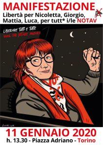 Con Nicoletta, per liberare tutti e tutte! Appello per manifestazione 11 gennaio a Torino