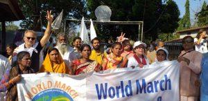 La Marcha Mundial se reúne con la Marcha por la Paz Jay Jagat