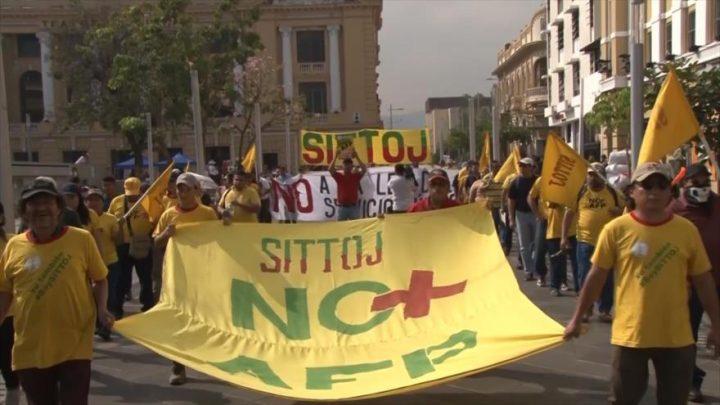 El Salvador: Sindicatos reclaman nuevo sistema de pensiones