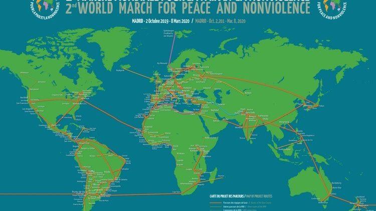 'Le début de la fin des armes nucléaires' a été présenté à Paris lors du passage de la 2ème Marche mondiale pour la paix et la nonviolence