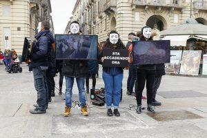 Allies for Liberation: flash mob a Torino in difesa degli animali.
