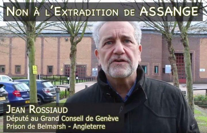 Non à l'extradition de Assange : le Visa Humanitaire des parlementaires Genevois