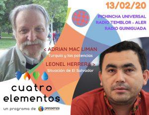 Cuatro Elementos del 13/02/2020 Turquía y El Salvador