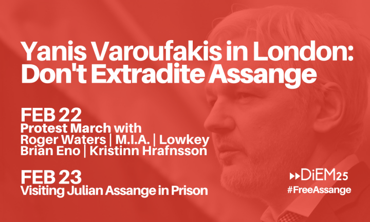 DiEM25 demands: no extradition of Julian Assange to the United States