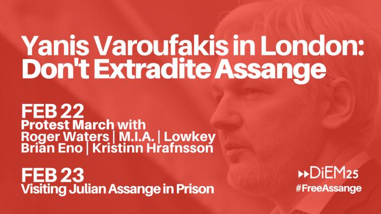 DiEM25 demande : Pas d'extradition de Julian Assange vers les États-Unis