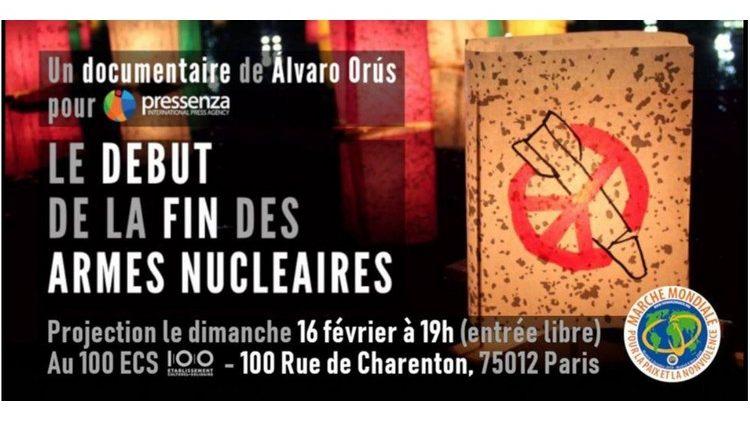 Présentation à Paris du documentaire 'Le début de la fin des armes nucléaires'