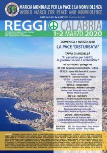 1 e 2 marzo a Reggio Calabria 70 associazioni  per la 2° Marcia Mondiale per la Pace e la Nonviolenza