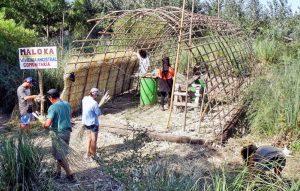 Punta Querandí: festejo e inauguración de la maloka