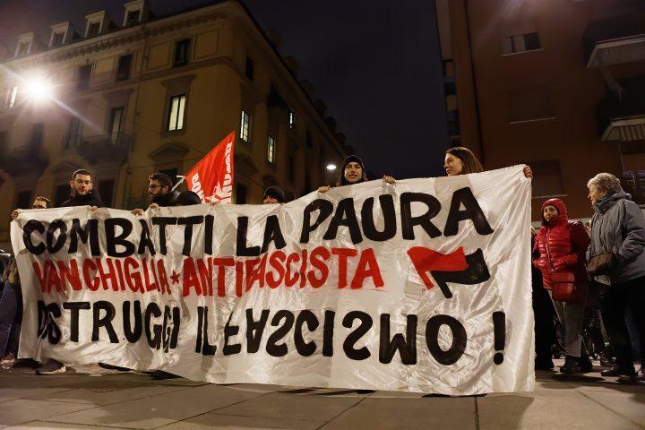 Corteo antifascista a Vanchiglia