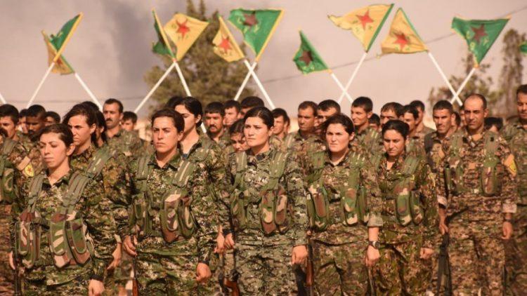 Afin, Kurdistan siriano YPG YPJ