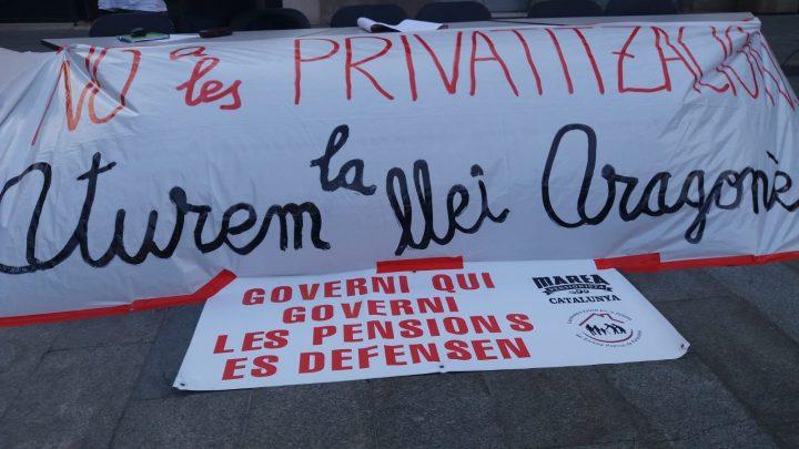 """D'""""Aturem la Llei Aragonès"""" a la Plataforma en Defensa dels Serveis Públics"""