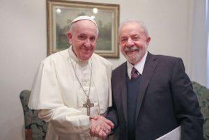 Lula, il Papa e il ministro dell'economia brasiliano