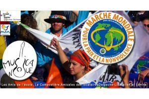 La Marche mondiale arrive à Montreuil, France
