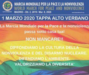 La Marcia Mondiale per la Pace e la Nonviolenza nell'alto Verbano e a Varese