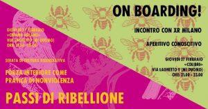 Extinction Rebellion Milano: Passi Di Ribellione + OnBoarding