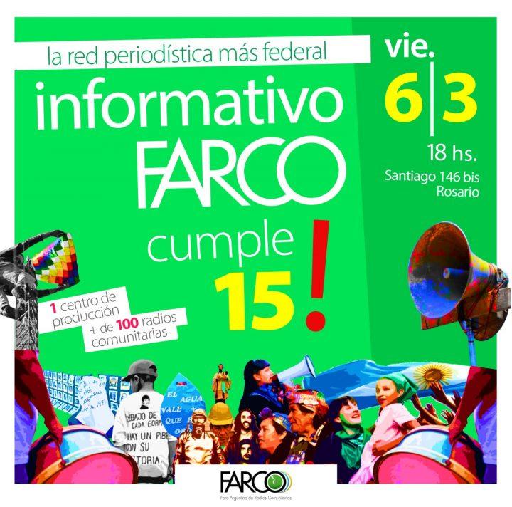 Argentina: FARCO celebra 15 años de su noticiero nacional y su Centro de Producción